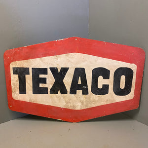 Vintage Hand painted Sign Texaco Art