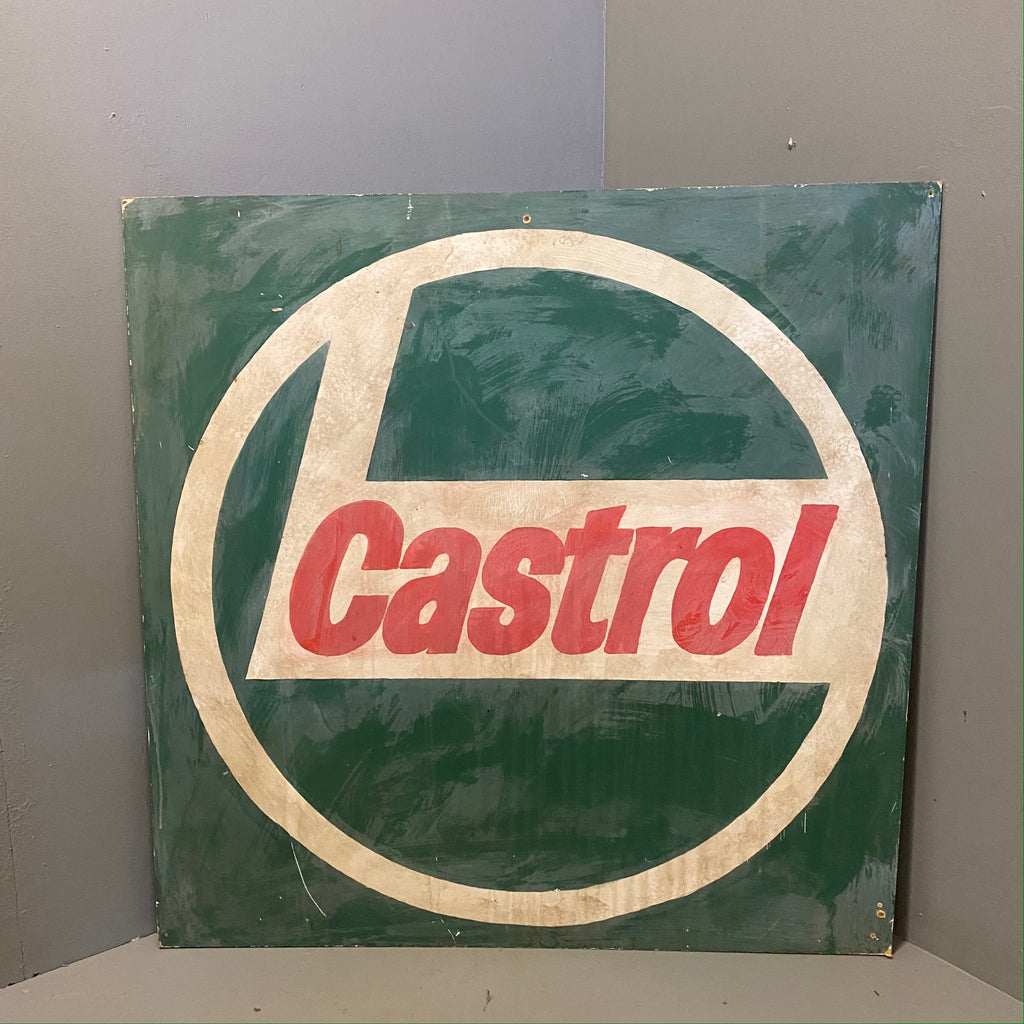 Vintage Hand painted Sign Castrol Art