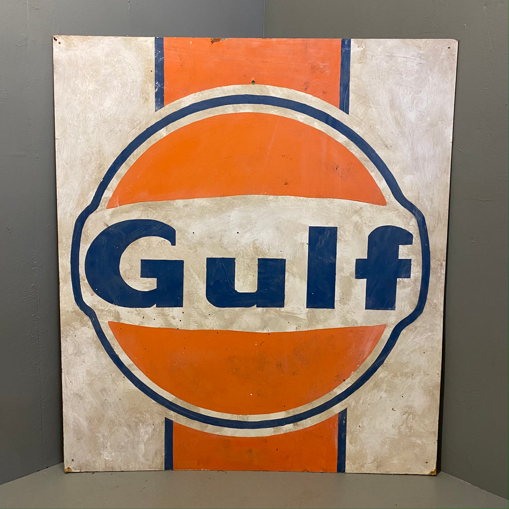 Vintage Hand painted Sign Gulf Art
