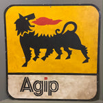 Load image into Gallery viewer, Vintage Hand painted Sign Agip Art