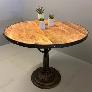 Vintage Style Circular Dining Table Poseur Table