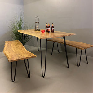 Hairpin Garden Table And Bench
