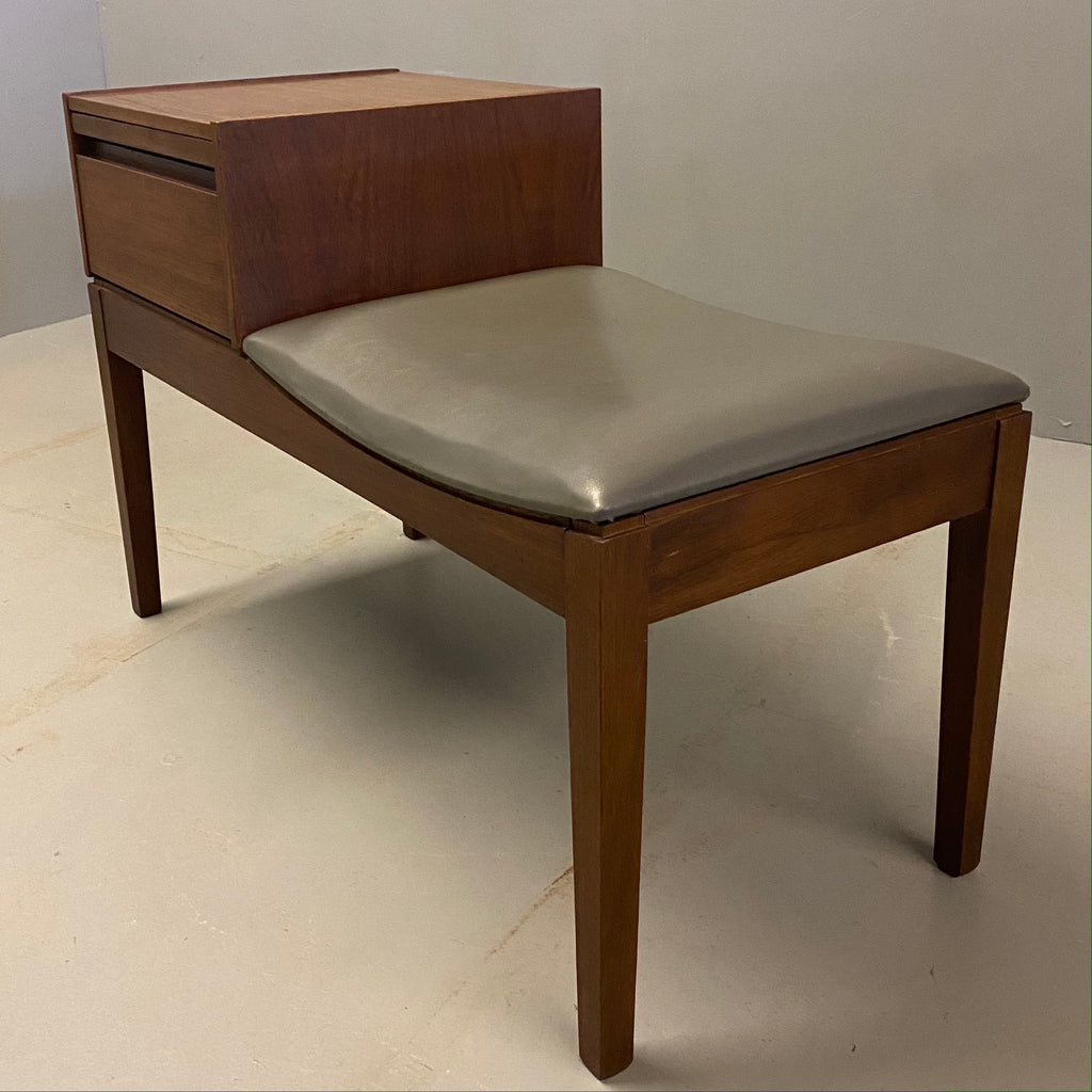 Midcentury Telephone Table Original Chippy