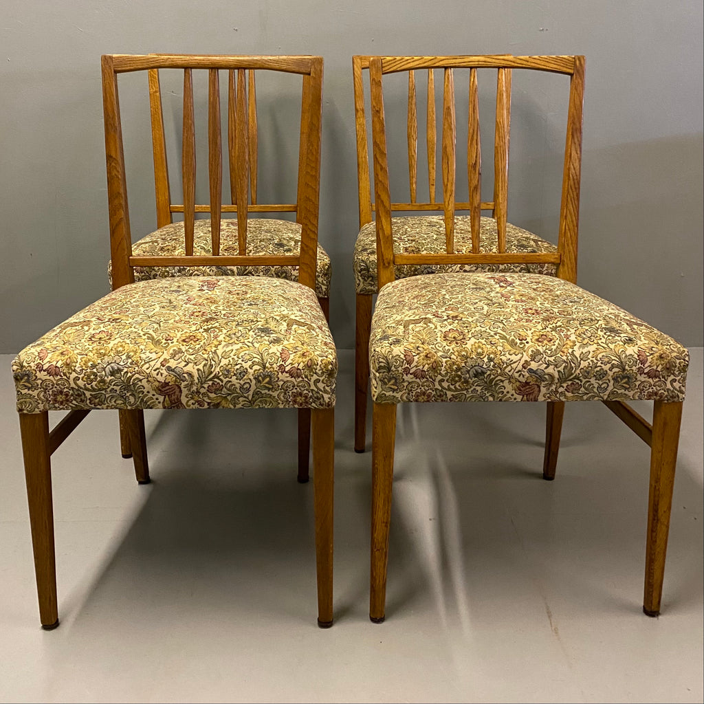 Heals Dining Chairs Midcentury William Morris