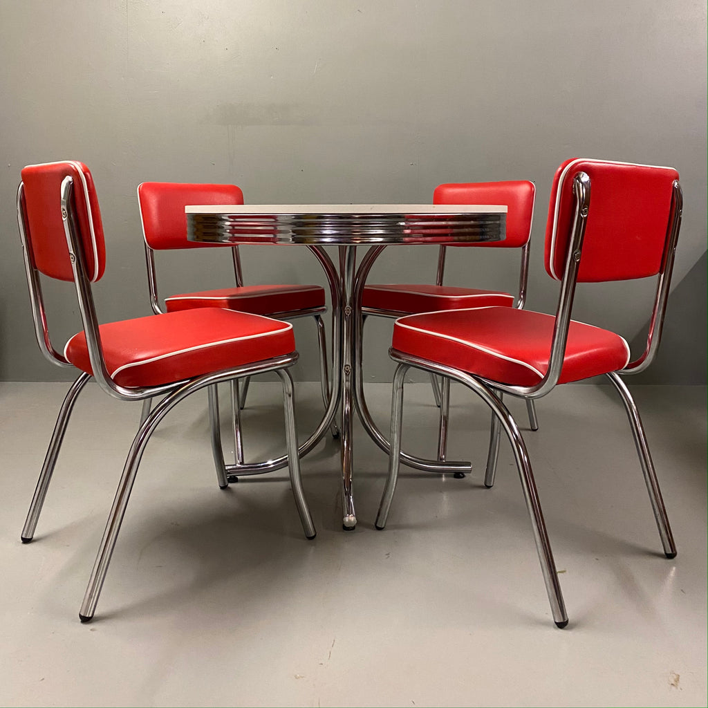 Retro American Diner Table & Chairs