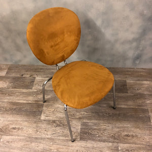 Brown suede chair