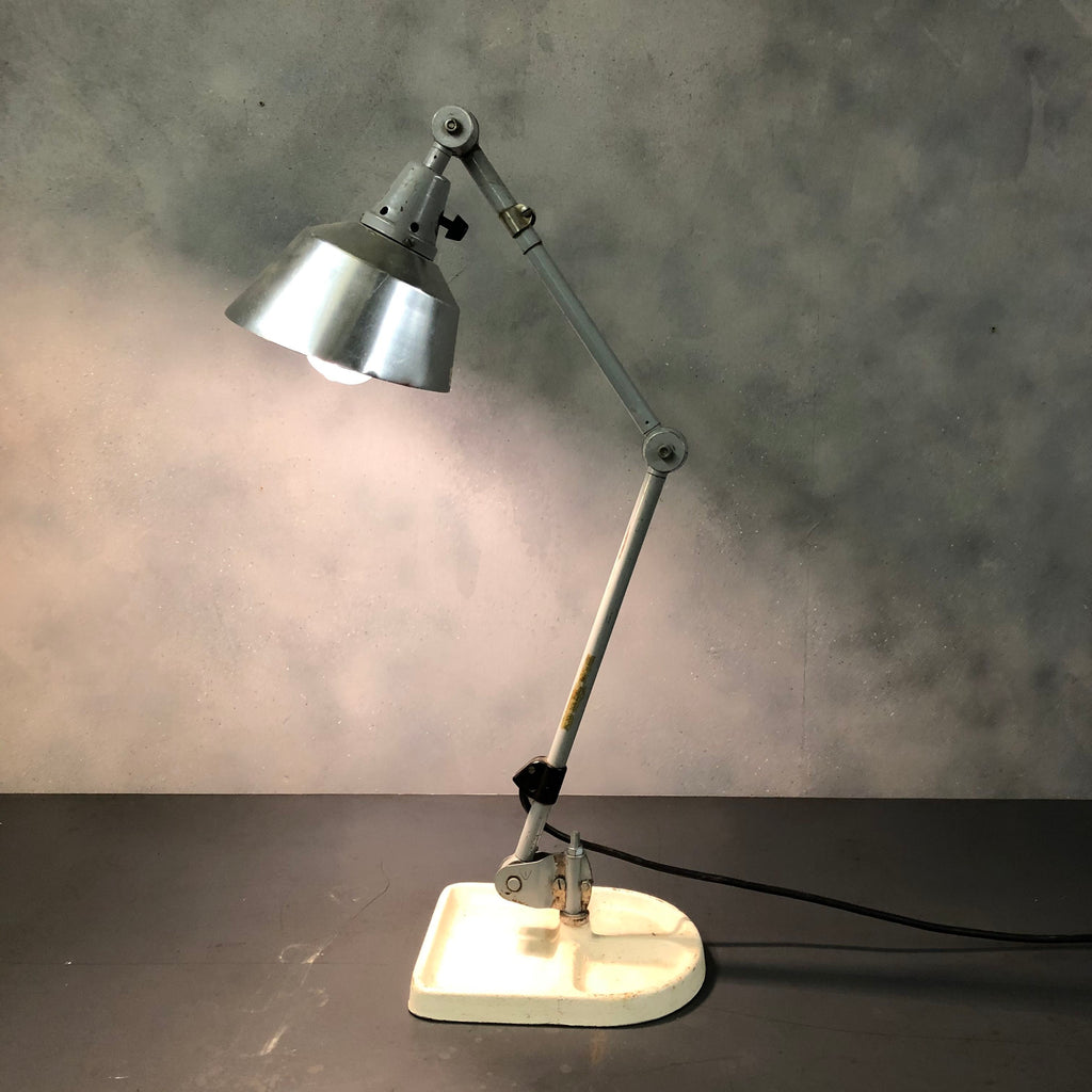 Industrial 1940s desk lamp designed by Kurt Fischer