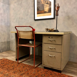 Industrial desk in fawn colour