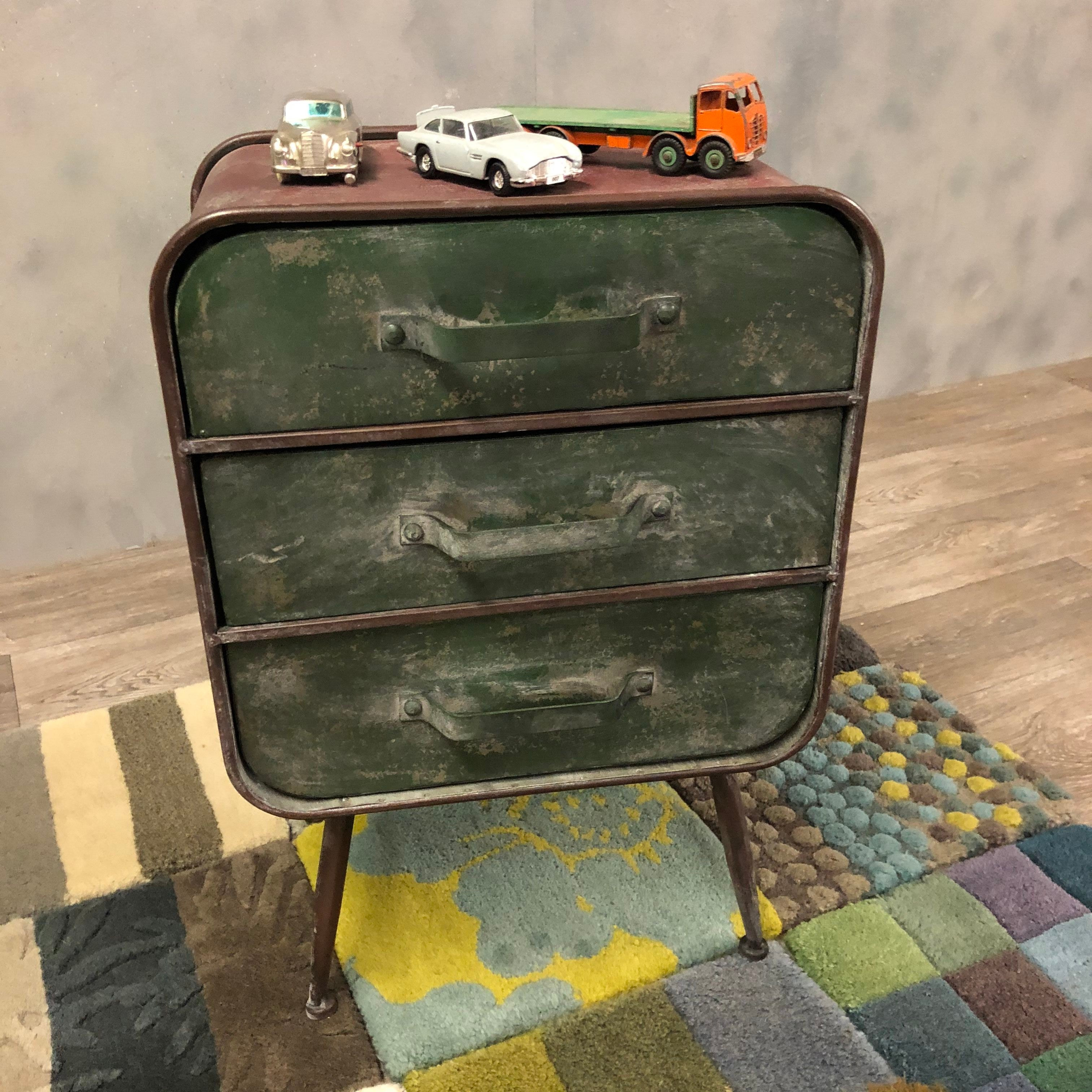 Industrial style bedside tables or cabinet