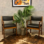 Load image into Gallery viewer, Midcentury teak boardroom chairs (2)