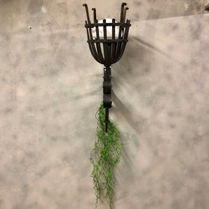 Outdoor wrought iron beacon wall light