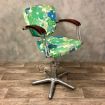Load image into Gallery viewer, Vintage 70s salon chair in stainless steel