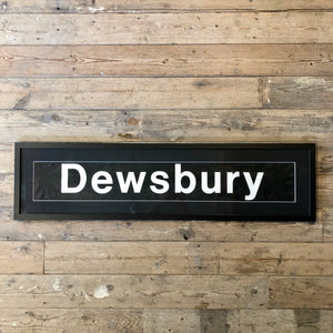 Vintage bus blind 'Dewsbury' Framed
