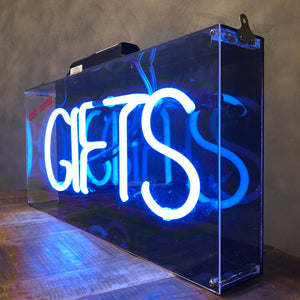Vintage flashing Neon 'Gifts'