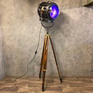 Vintage movie light and tripod 'Mole Richardson'