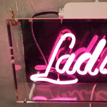 Load image into Gallery viewer, Vintage Neon 'Ladies' in baby pink.