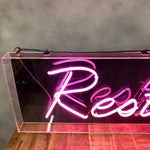 Load image into Gallery viewer, Vintage Neon 'Restaurant' in pink