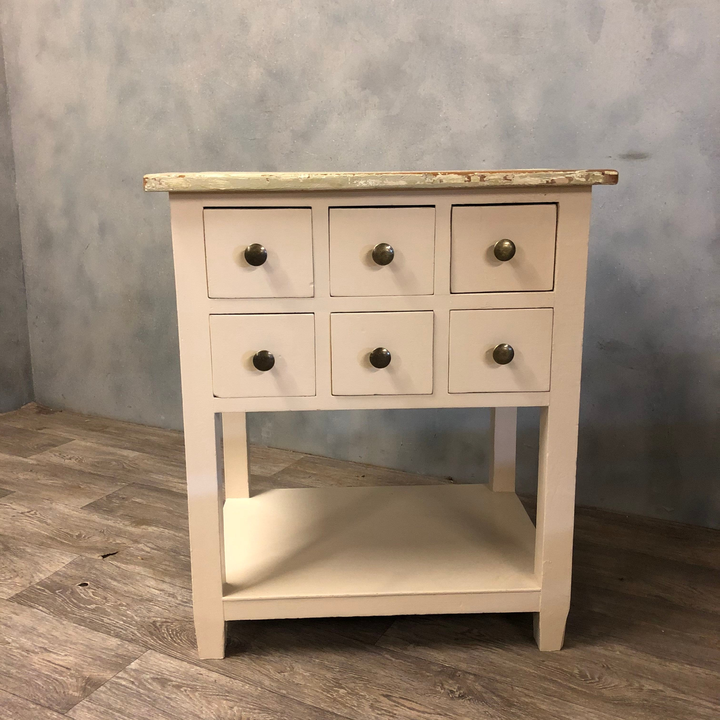 Vintage work cabinet with 6 drawers