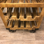 Load image into Gallery viewer, Wine rack in industrial on wheels