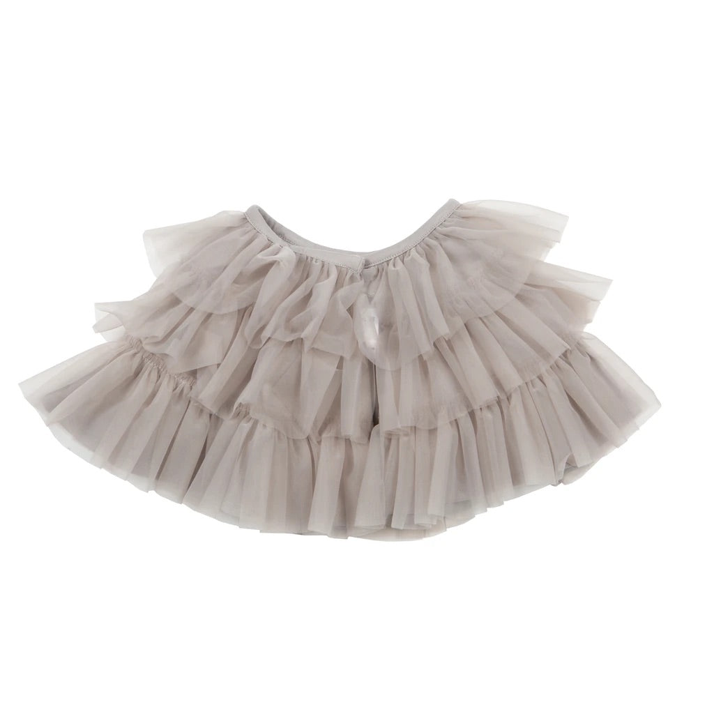Party Ruffle Cape Grey