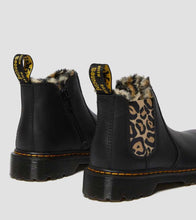 Load image into Gallery viewer, JUNIOR 2976 LEOPARD FAUX FUR LINED LEATHER CHELSEA BOOTS
