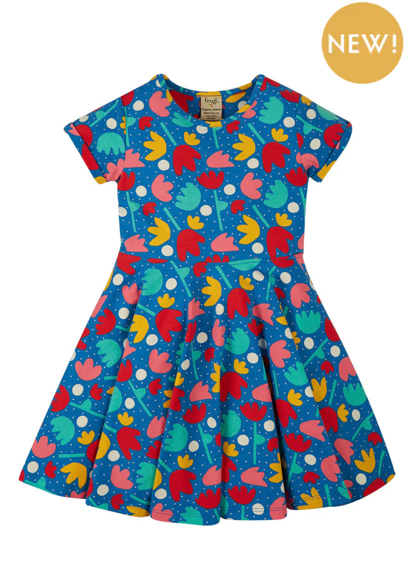 Spring Skater Dress Lotus Bloom