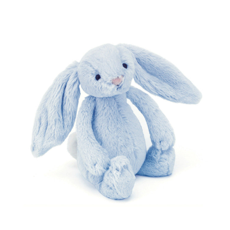Bashful Bunny Blue Rattle Small
