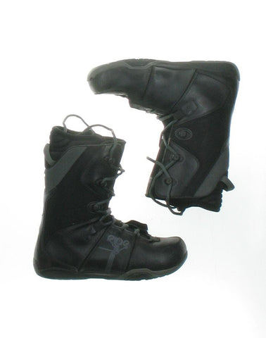 Used Ride Black Snowboard Boots Men's