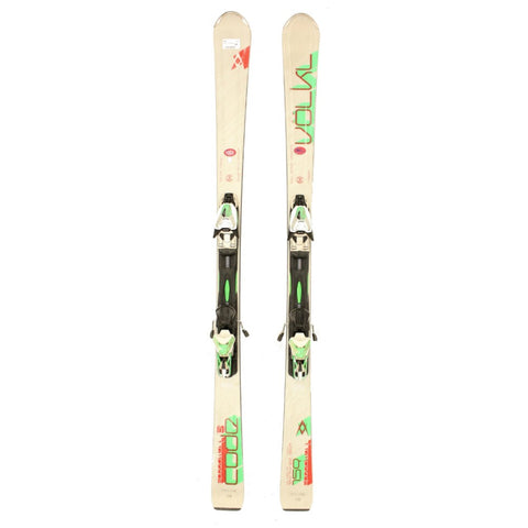 Used 2014 Mens Volkl Code Speewall S Skis w Marker RM Bindings