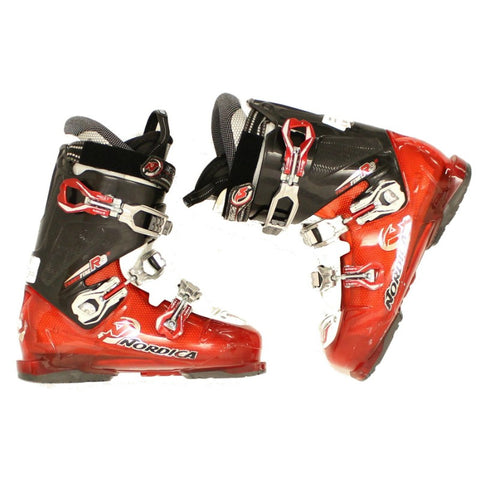 Used Mens 2014 Nordica Transfire R3 Red Black Ski Boots