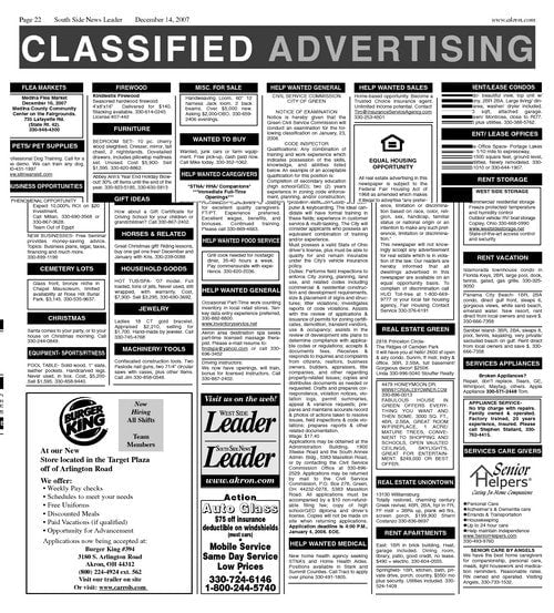 1-CLASSIFIED ADVERTISEMENT