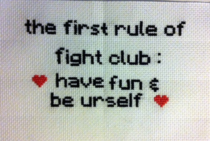 First Rule of Fight Club