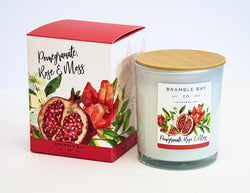 Bramble Bay Candle Pomegranate, Rose & Moss 300gm