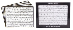Gibson Making Music Placemats Set of 4