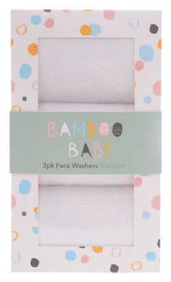 Gibson BAMBOO BABY FACEWASHERS SET OF 3