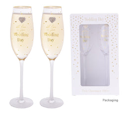 Gibson Mad Dots Wedding Day Flutes
