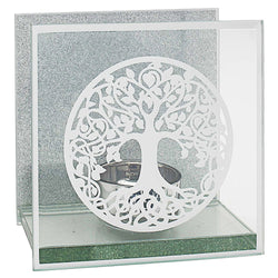 Gibson Mirror Tree of Life Tealight Holder