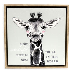 Splosh Bbay Giraffe Framed Canvas 34x34
