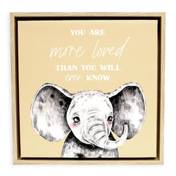Splosh Baby Elephant Framed Canvas 34x34