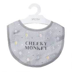 Splosh Baby Grey Cheeky Bib