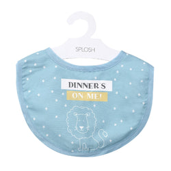 Splosh Baby Blue Bib With Lion