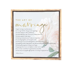 Splosh Wedding Marriage Framed Canvas 34x34