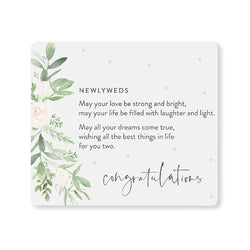 Splosh Wedding Newlyweds Verse Plaque
