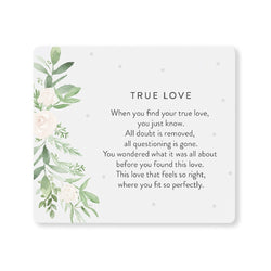 Splosh Wedding True Love Verse Plaque