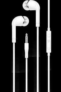 iGear EARPHONE WITH MIC/VOL CTL EURO STYLE WHITE