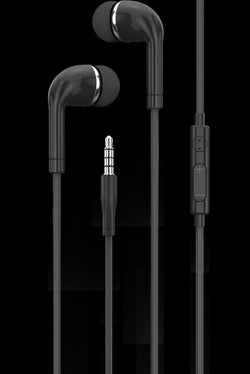 iGear EARPHONE WITH MIC/VOL CTL EURO STYLE BLACK