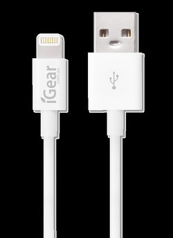 iGear CABLE CHARGE/SYNC IPHONE 1M MFI WHITE