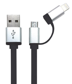 iGear CABLE CHARGE/SYNC 2 IN 1 RETRACTABLE BLACK