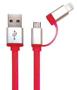 iGear CABLE CHARGE/SYNC 2 IN 1 RETRACTABLE RED