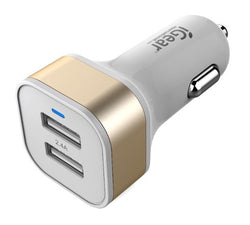 iGear CHARGER AUTO 2 USB 2.4A WHITE/GOLD